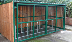 Timber Cycle Parking Shed