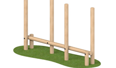 Timber Climbing Play Posts