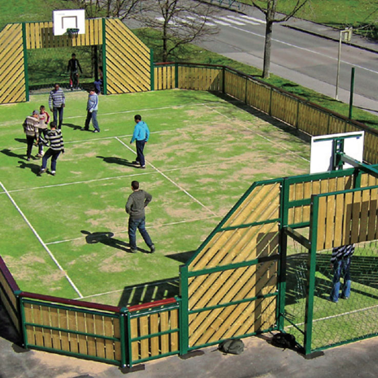 wooden timber multi use games area