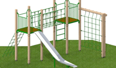 Timber Adventure Slide Area