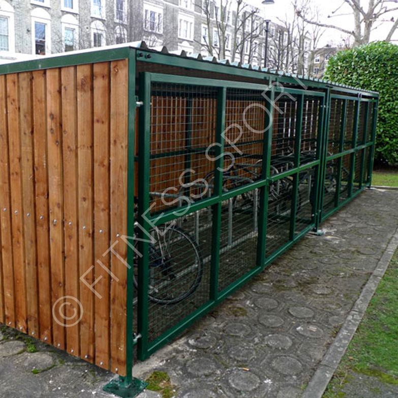 Timber Outdoor Public Cycle Parking Shelter Fitness Sports