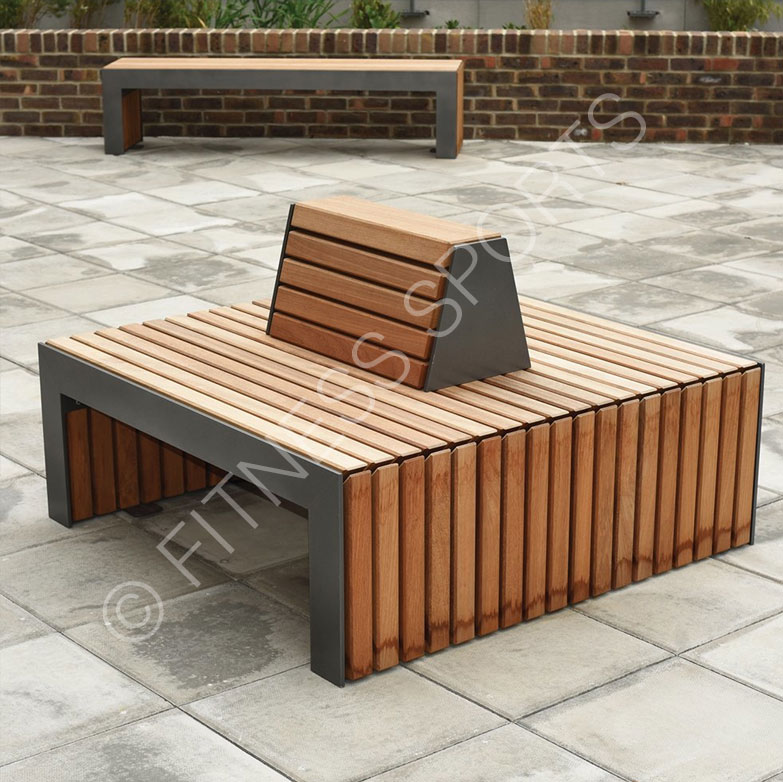 Exterior Group Public Seating Bench Area Fitness Sports