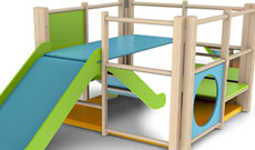 Toddler PE activity climbing frame.