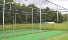 Warwick University ECB Multi Lane Steel Cricket Cage & Artificial Test Pitch Area