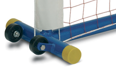 Mini tennis portable steel freestanding uprights.