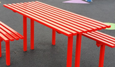Anti Vandal Steel Table