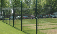 Multi lane outdoor winch post cricket batting nets.