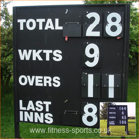 Standard wooden folding cricket scoreboard