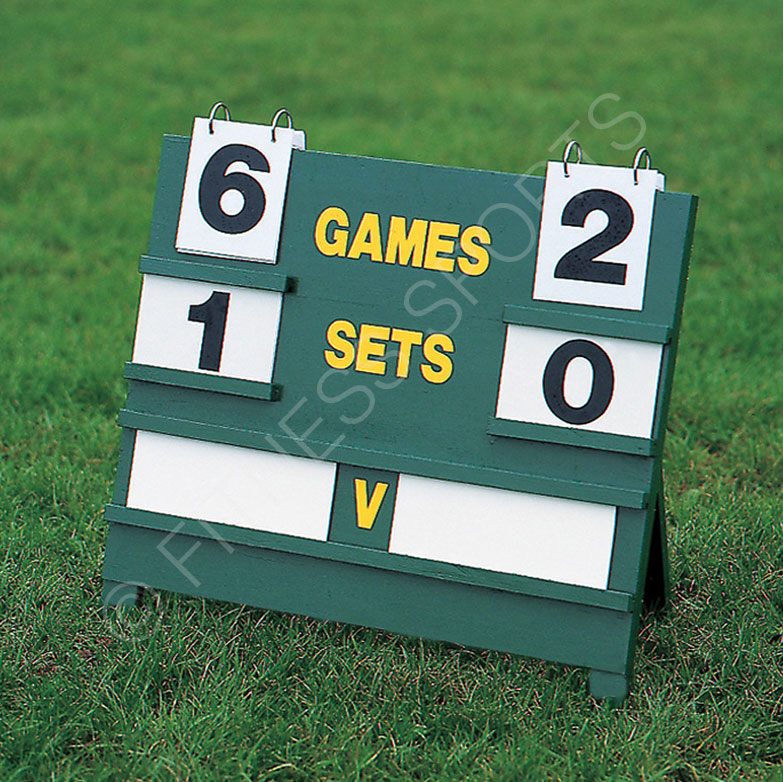 Tennis scoreboard and numbers