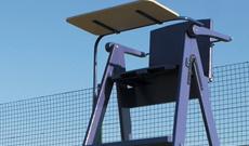 Alloy tennis umpires chair.